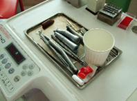 ① 処置後の使用器材分別